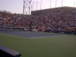 Full House on Armstrong during Andy Murray versus Robin Haase! Does not get much better than this being Court side at the US Open! (Especially when being part of the winning player!)