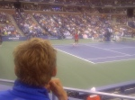 In the box with mats watching giving his best shot against Roger but came up short!