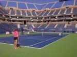 Arthur Ash warm ups, Bojana Jovanovski in prep for her night match with Serena Williams!