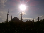Visiting the city of Istanbul on a beautiful day! This is the BLUE Mosque!