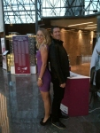 Making sure I am still taller than Caroline in her high heels before she heads over to the draw ceremony!