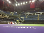Greetings From Istanbul! 1 practise down and 1 more to go! The field is set with Radwanska entering due to Bartoli pulling out in Moscow today!
