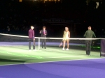 Toss before the Zvonereva and Caroline match! If Caroline wins this match she will be year end number 1 according to #wtachamps