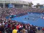 Indrukwekkende opkomst tijdens de Australian Open Kids Day. Geweldig initiatef tijdens de laatste ronde van het kwalificitatietoernooi!