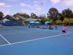 Blauwe baan, witte lijnen. Blauwe lucht, witte wolken. Een mooie dag op Albert Park voor een trainingssessie met Ayumi Morita vandaag!