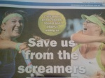 De kranten in aanloop naar de damesfinale in Melbourne