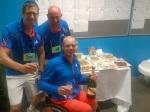 In de kleedkamer met Maikel Scheffers en Marc Kalkman om de Australian Open overwinning te vieren met een compleet buffet!